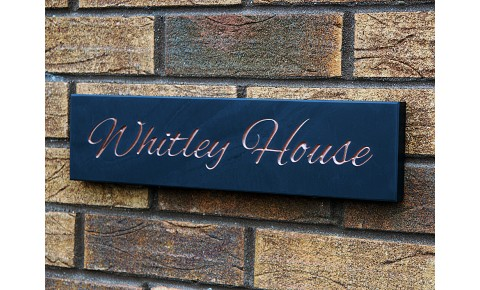Welsh Slate House Sign - 100mm x 400mm x 20mm